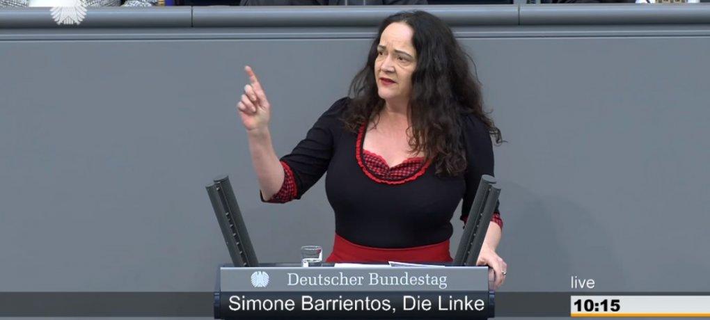 Simone Barrientos spricht im Deutschen Bundestag. Braucht die Deutsche Sprache den Schutz des Grundgesetzes?