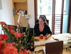 Simone Barrientos im Bundestagsbüro, Jakob-Kaiser-Haus, 2017