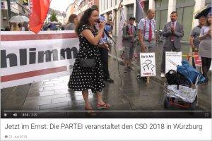 CSD 2018 in Würzburg, Rede von Simone Barrientos