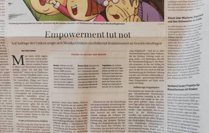 Presseartikel über Simone Barrientos, Für den Feminismus streiten
