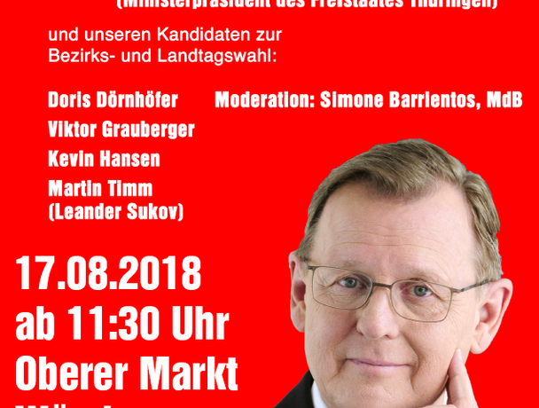 Wahlkampfauftakt in Würzburg mit Bodo Ramelow, 17.08.2018