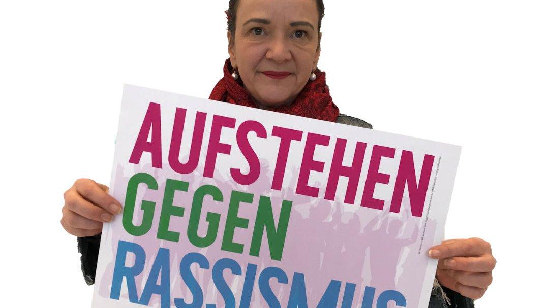 Simone Barrientos kämpft gegen Rassismus. Aufstehen gegen Rassismus