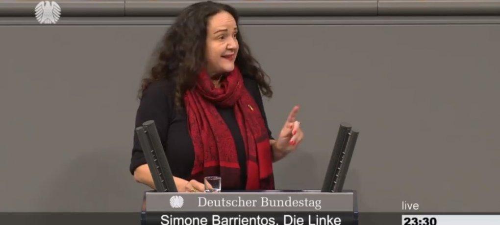 Simone Barrientos spricht im Deutschen Bundestag zu Gleichstellung in der Ehe.