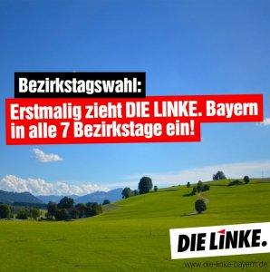 Linke ist in allen bayerischen Bezirkstage vertreten