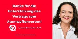Simone Barrientos unterstützt den Vertrag zum Atomwaffenverbot