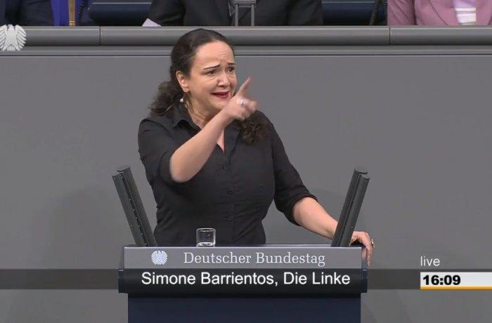 Simone Barrientos spricht im Deutschen Bundestag zum Freiheits- und Einheitsdenkmal