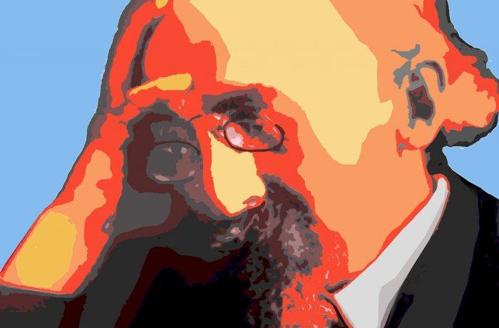 Portrait von Kurt Eisner, gemalt von dem Münchner Künstler Wolfram P. Kastner.