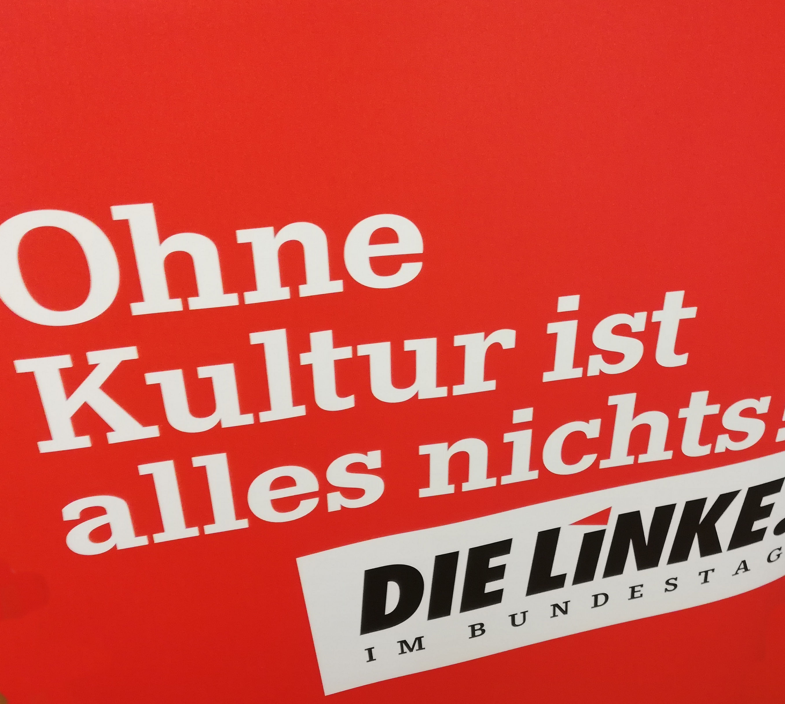 Ohne Kultur ist alles Nichts. Simone Barrientos, kulturpolitische Sprecherin der Fraktion DIE LINKE. im Bundestag