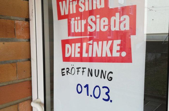 Eröffnung Linkes Zentrum, Grombühlstraße 18, Würzburg
